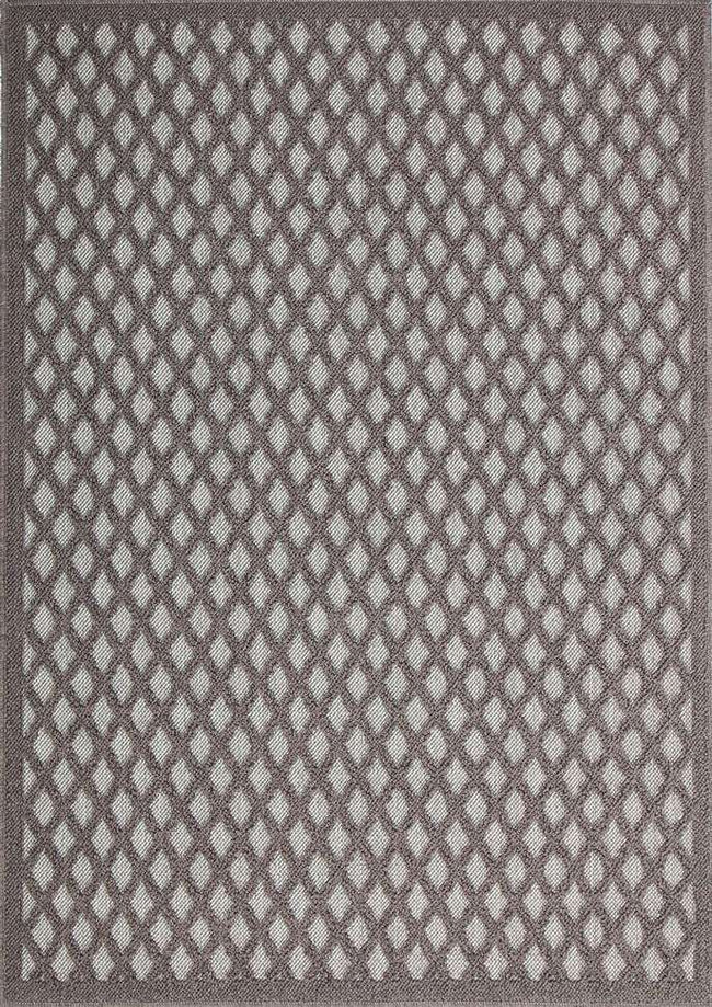 Landscape Grey Bordered Diamond Pattern Ikat Rug, [cheapest rugs online], [au rugs], [rugs australia]