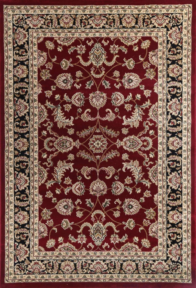 Lavish Traditional Collection 500 Black/Red, [cheapest rugs online], [au rugs], [rugs australia]