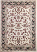 Lavish Traditional Collection 500 Cream/Black, [cheapest rugs online], [au rugs], [rugs australia]