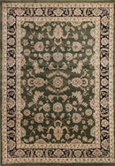 Lavish Traditional Collection 500 Green/Black, [cheapest rugs online], [au rugs], [rugs australia]