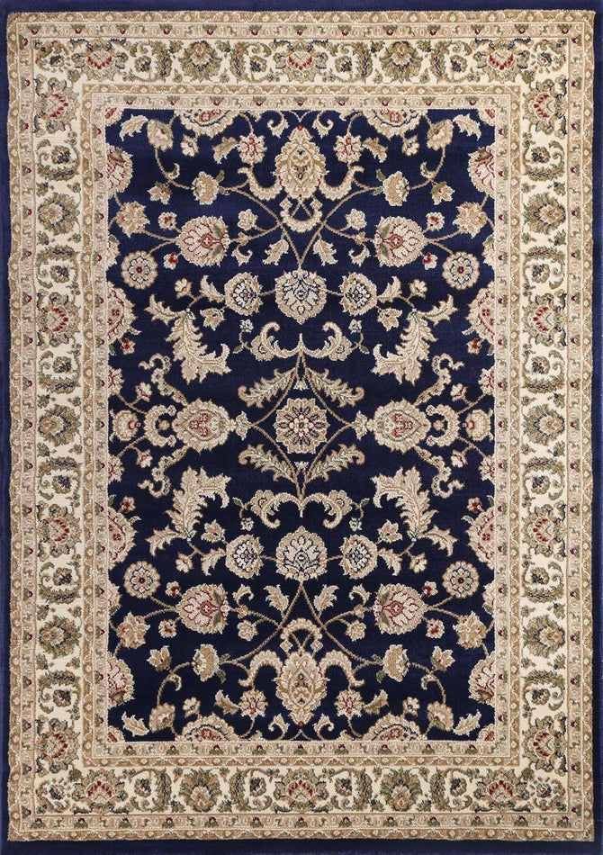 Lavish Traditional Collection 500 Navy/Cream, [cheapest rugs online], [au rugs], [rugs australia]
