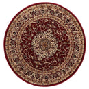 Lavish Traditional Collection 600 Red Round Rug, [cheapest rugs online], [au rugs], [rugs australia]