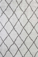 Moroccan Tribal Diamond Pattern Silver Grey Rug, [cheapest rugs online], [au rugs], [rugs australia]