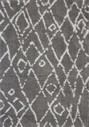 Moroccan Tribal Fes Pattern Grey Silver Rug, [cheapest rugs online], [au rugs], [rugs australia]