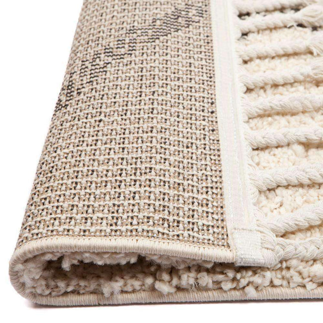 Moroccan Tribal Patterns Cream Graphite Agadir Rug, [cheapest rugs online], [au rugs], [rugs australia]