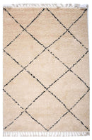 Moroccan Tribal Patterns Cream Graphite Fez Rug, [cheapest rugs online], [au rugs], [rugs australia]