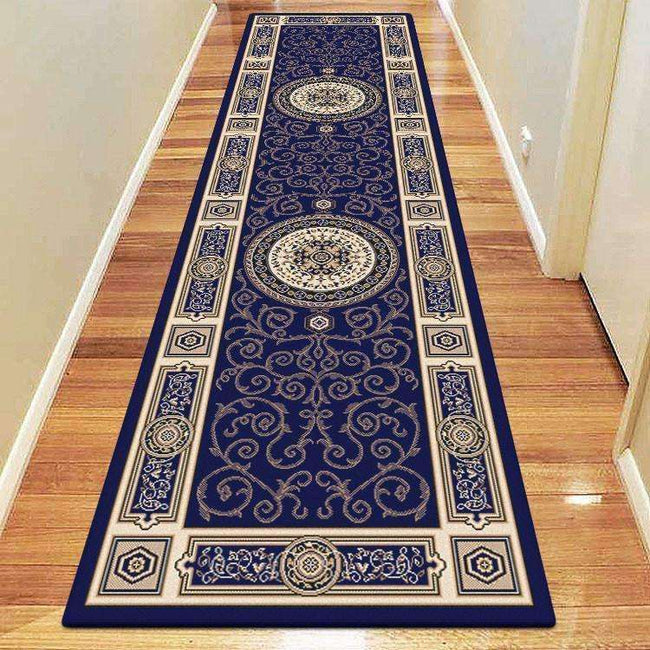 Mystique Traditional 7647 Dark Blue Rug, [cheapest rugs online], [au rugs], [rugs australia]