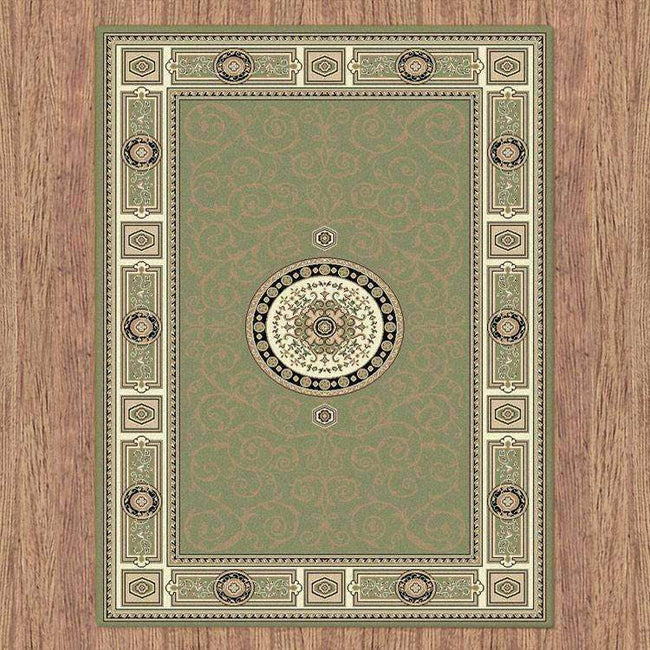 Mystique Traditional 7647 Green Rug, [cheapest rugs online], [au rugs], [rugs australia]