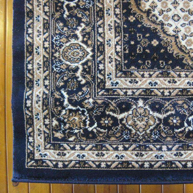 Mystique Traditional 7650 Dark Blue Rug, [cheapest rugs online], [au rugs], [rugs australia]