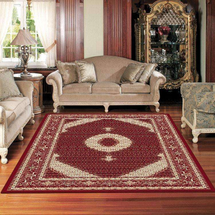Mystique Traditional 7650 Red Rug, [cheapest rugs online], [au rugs], [rugs australia]