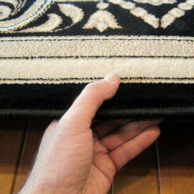 Mystique Traditional 7652 Black Rug, [cheapest rugs online], [au rugs], [rugs australia]