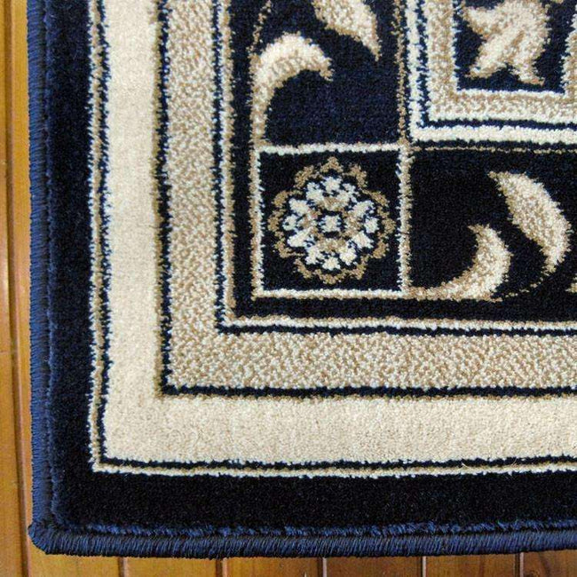 Mystique Traditional 7652 Dark Blue Rug, [cheapest rugs online], [au rugs], [rugs australia]