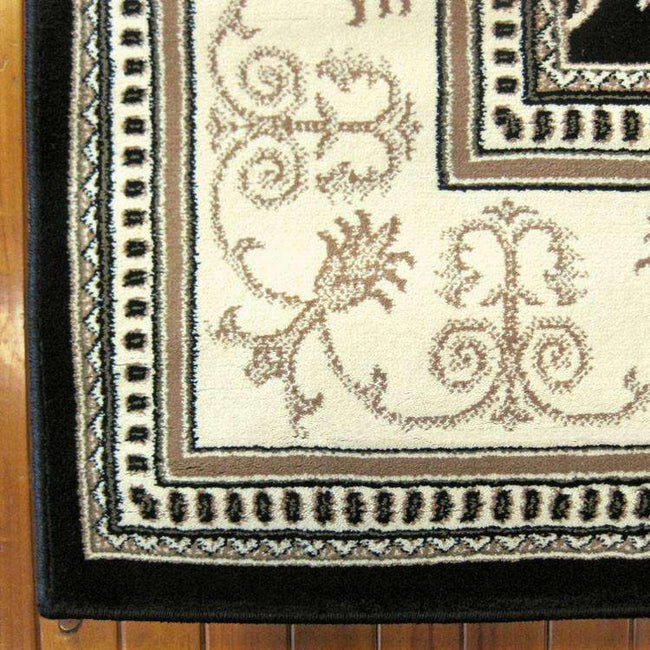 Mystique Traditional 7653 Black Rug, [cheapest rugs online], [au rugs], [rugs australia]