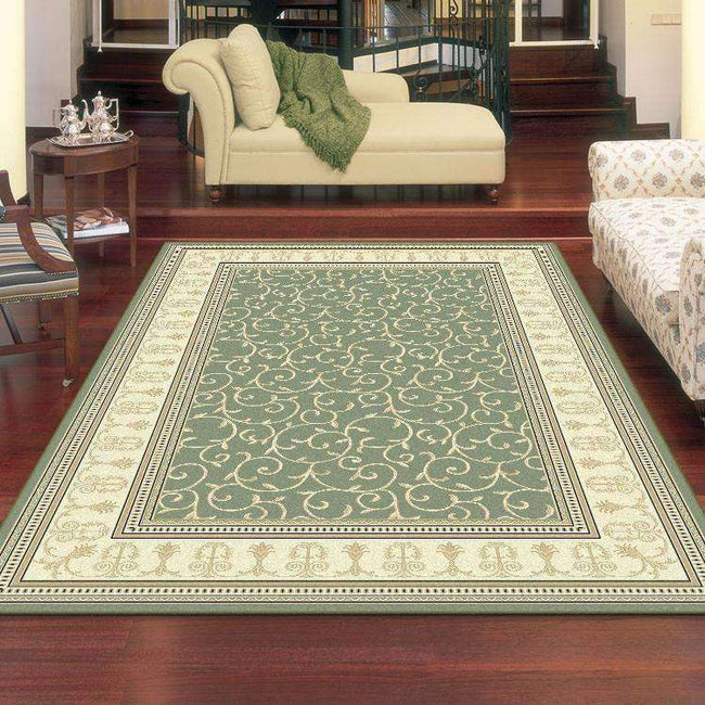 Mystique Traditional 7653 Green Rug, [cheapest rugs online], [au rugs], [rugs australia]