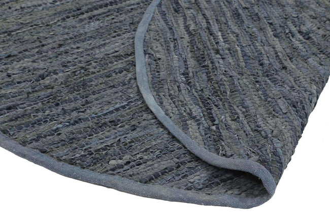 Nordic Modern Grey Leather Round Rug, [cheapest rugs online], [au rugs], [rugs australia]