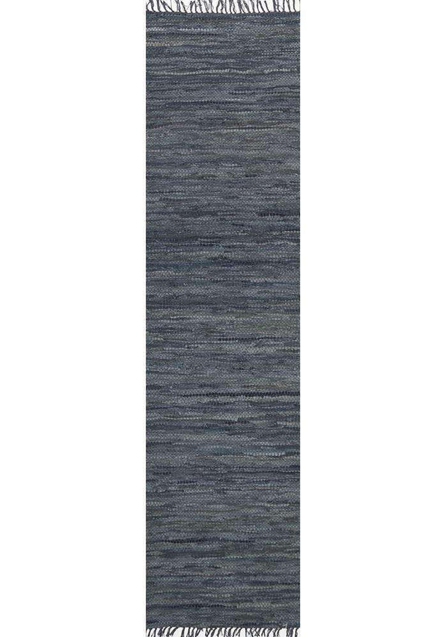 Nordic Modern Grey Leather Runner Rug, [cheapest rugs online], [au rugs], [rugs australia]