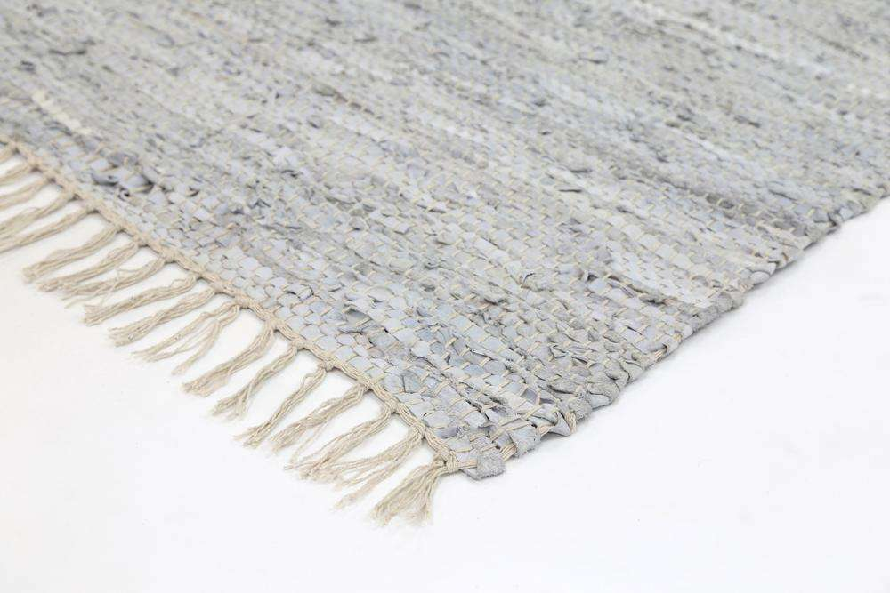 Nordic Modern White Leather Runner Rug, [cheapest rugs online], [au rugs], [rugs australia]