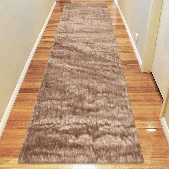Oslo Silky Soft Shag 1001 Cappuccino Runner Rug, [cheapest rugs online], [au rugs], [rugs australia]