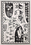 Paddington Black and White Kids Camping Adventure Kids Rug, [cheapest rugs online], [au rugs], [rugs australia]