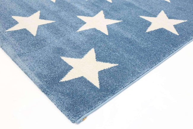 Paddington Blue and White Stars Kids Rug, [cheapest rugs online], [au rugs], [rugs australia]