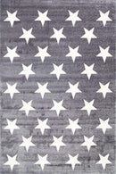 Paddington Charcoal and White Stars Kids Rug, [cheapest rugs online], [au rugs], [rugs australia]