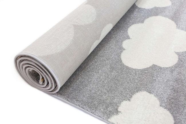 Paddington Grey White  Cloud Kids Rug, [cheapest rugs online], [au rugs], [rugs australia]