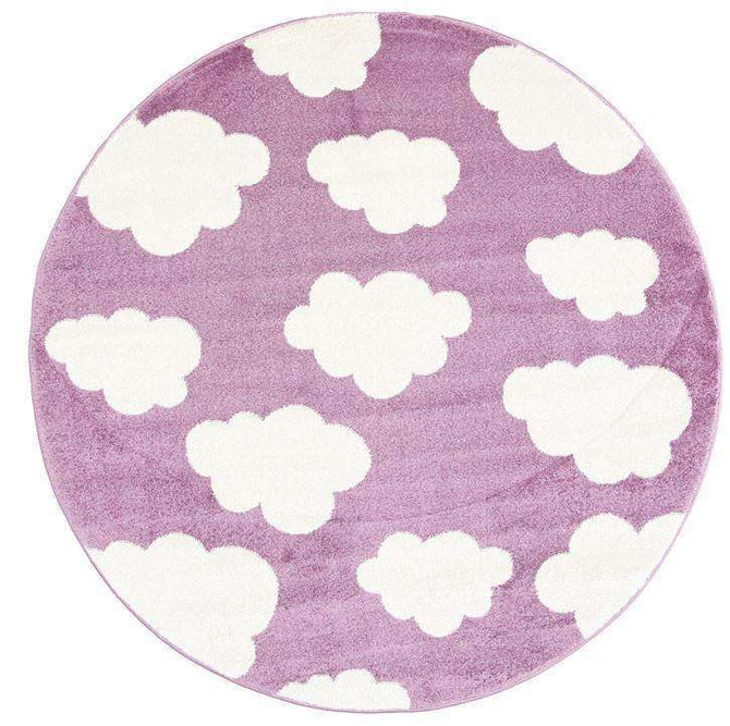 Paddington Pink and White Cloud Kids Round Rug, [cheapest rugs online], [au rugs], [rugs australia]