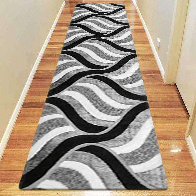 Platinum Luxury Shag 5328 Grey Runner Rug, [cheapest rugs online], [au rugs], [rugs australia]