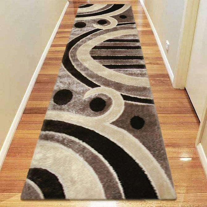 Platinum Luxury Shag 6225 Brown Runner Rug, [cheapest rugs online], [au rugs], [rugs australia]