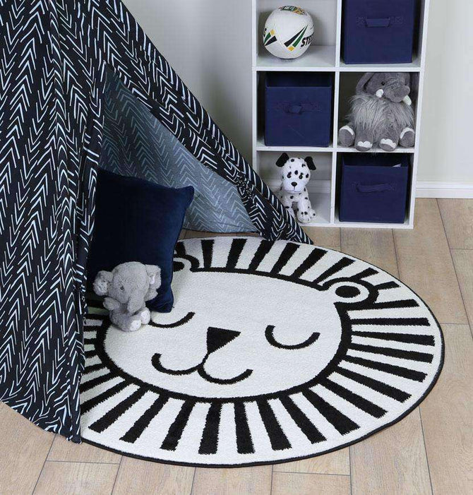 Poppins Kids Lion Round Rug, [cheapest rugs online], [au rugs], [rugs australia]