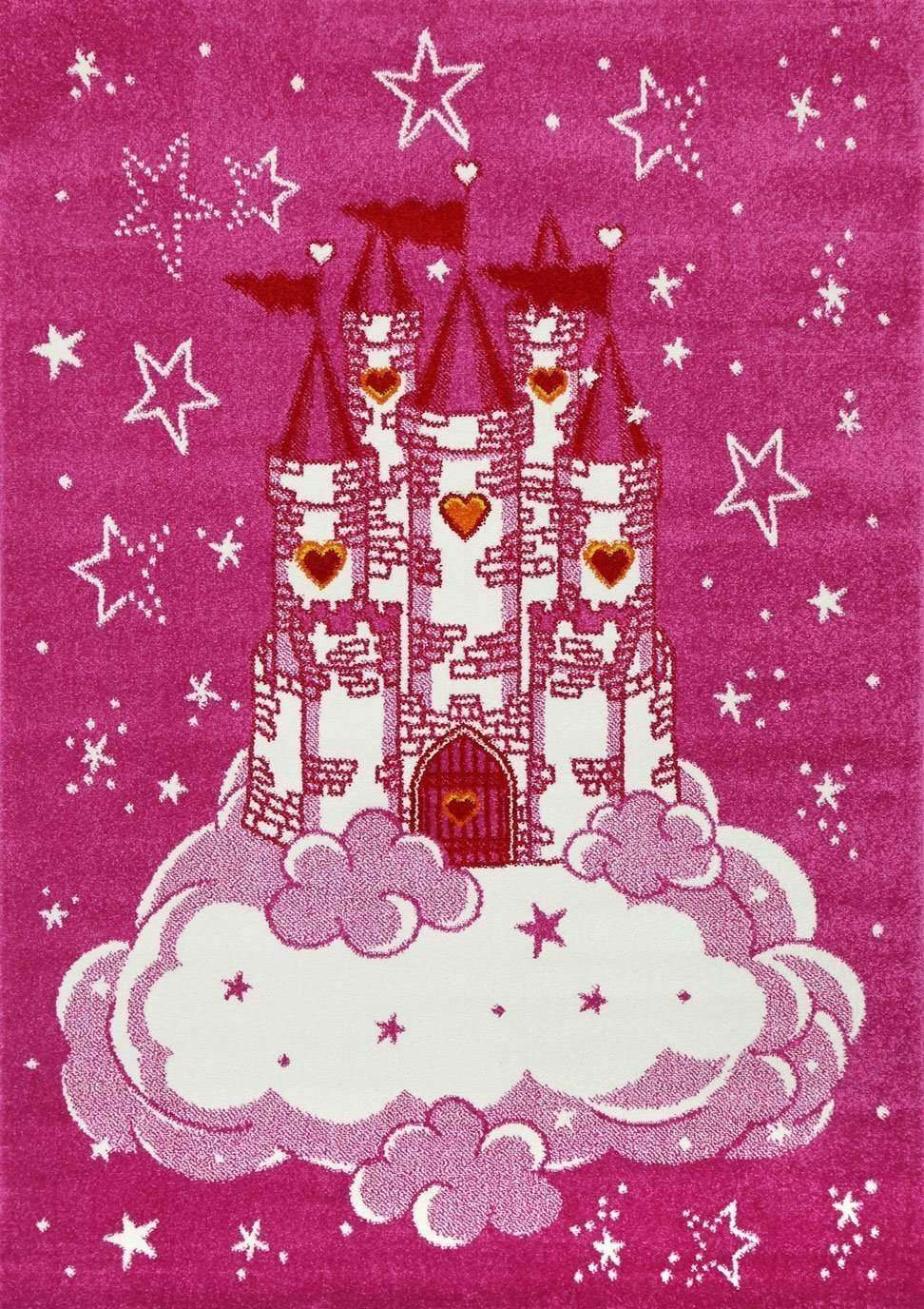 Poppins Pink Castle Rug, [cheapest rugs online], [au rugs], [rugs australia]