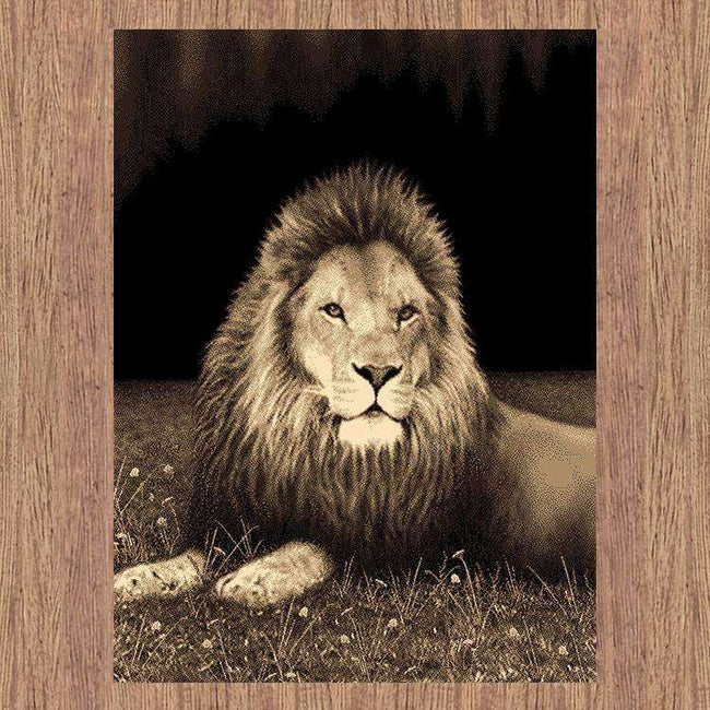 Swift Lion Picture Modern Brown Rug, [cheapest rugs online], [au rugs], [rugs australia]