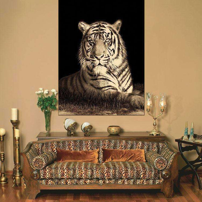 Swift Tiger Picture Modern Brown Rug, [cheapest rugs online], [au rugs], [rugs australia]