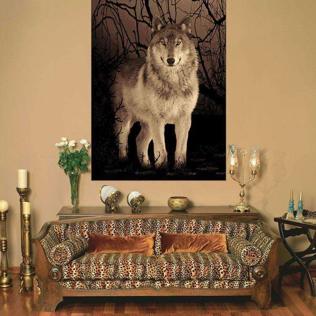 Swift Wolf Picture Modern Brown Rug, [cheapest rugs online], [au rugs], [rugs australia]