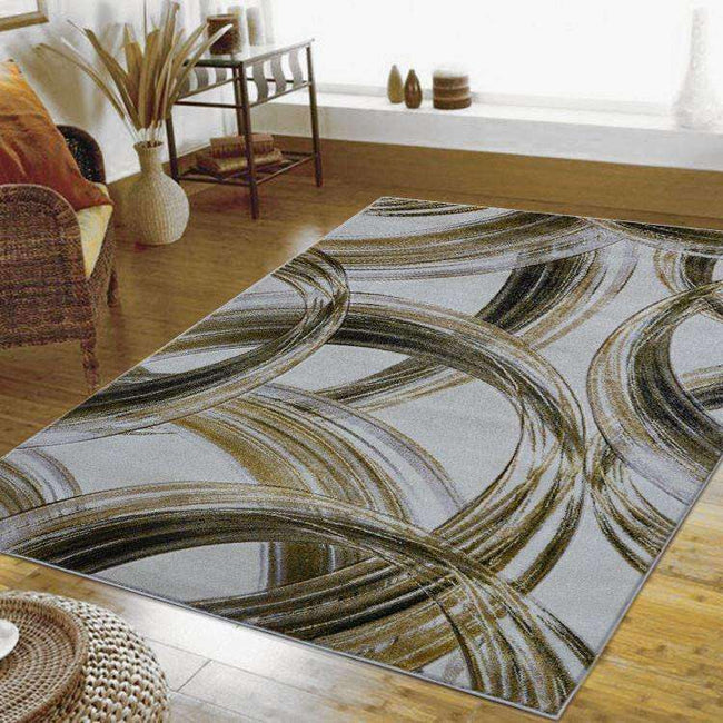 Tribe Modern Collection 1068 Gold Rug, [cheapest rugs online], [au rugs], [rugs australia]