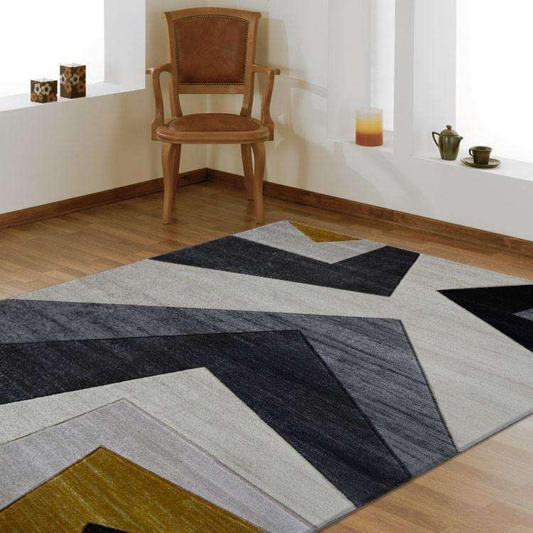 Tribe Modern Collection 2095 Gold Rug, [cheapest rugs online], [au rugs], [rugs australia]