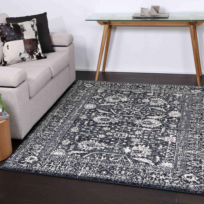 Viera Modern Distressed Navy Rug, [cheapest rugs online], [au rugs], [rugs australia]