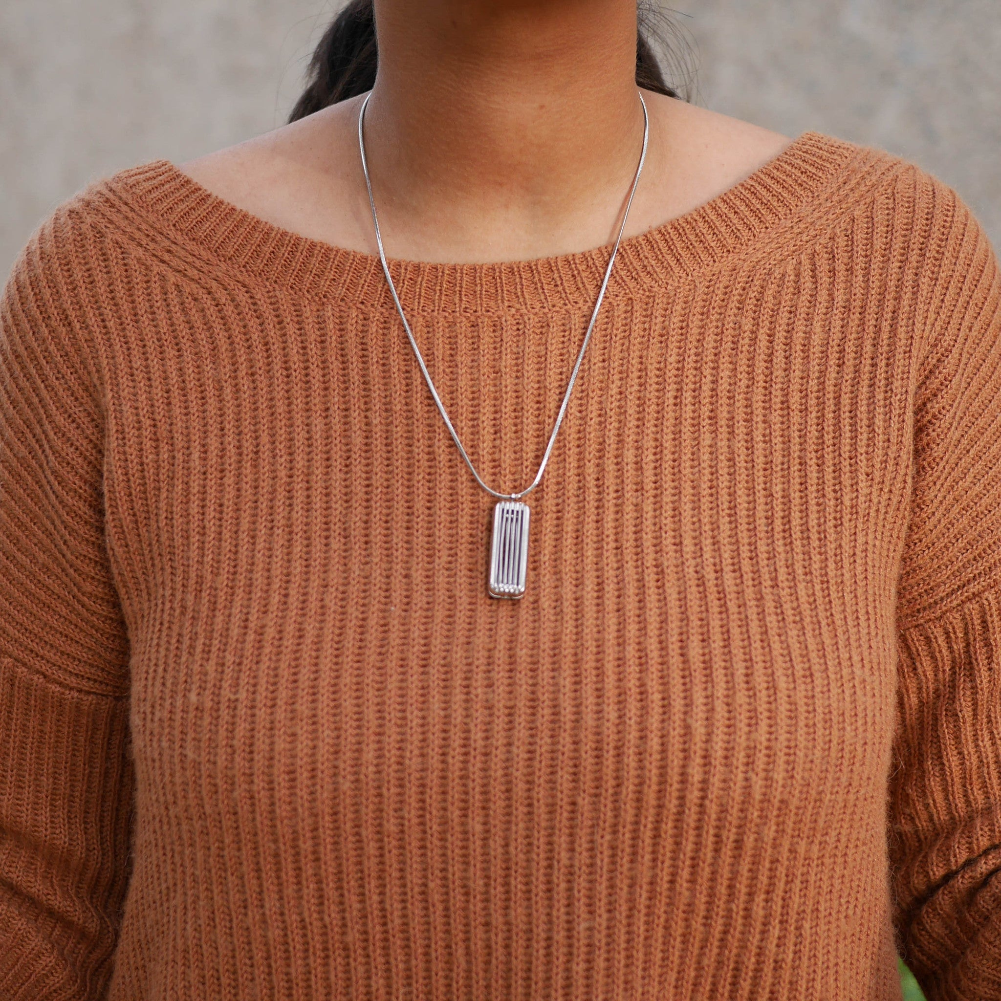Silver Necklace for Fitbit Flex 2