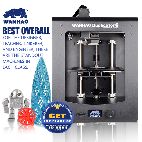 WANHAO DUPLICATOR 6 3D PRINTER + ACRYLIC ENCLOSURE - Click Depot