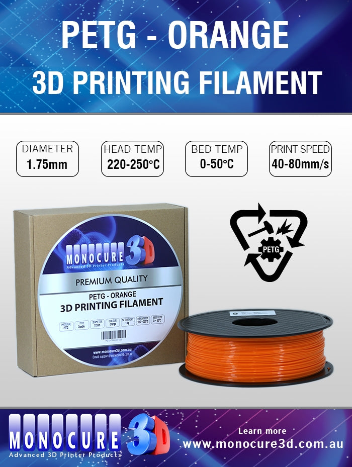 PETG FILAMENT - ORANGE (1 Kg)