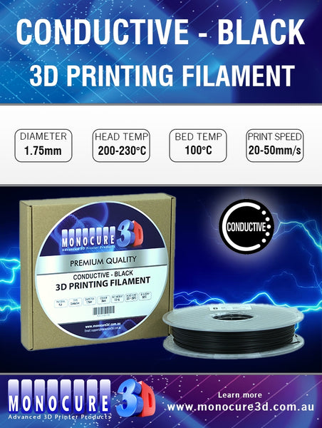 CONDUCTIVE FILAMENT - BLACK (0.5 KG)