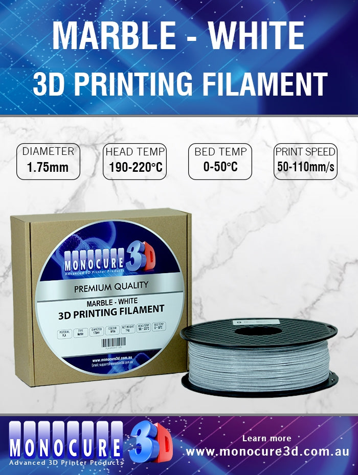 MARBLE-LIKE FILAMENT - WHITE (1 KG)