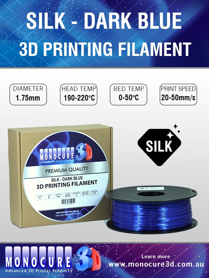 SILK PLA FILAMENT - DARK BLUE (1 KG)