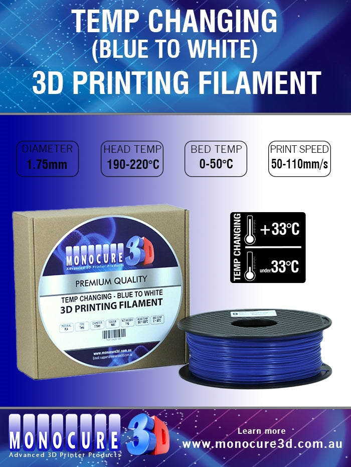 TEMP CHANGING PLA - BLUE TO WHITE (1 Kg)