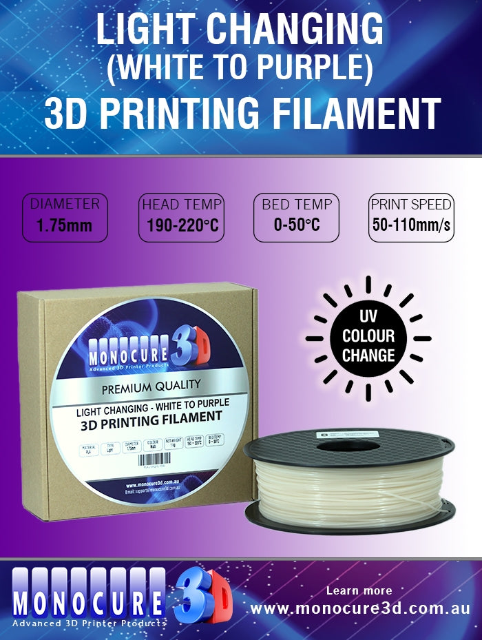 LIGHT CHANGING PLA - WHITE TO PURPLE (1 Kg)