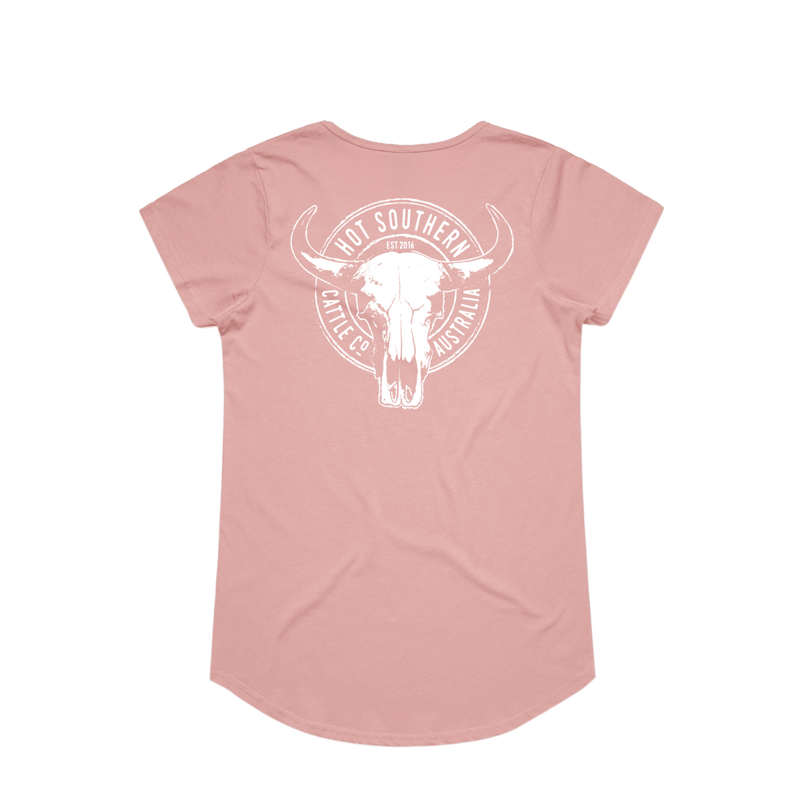 Hot Southern Cattle Co Dusty Pink Womens Scoop T-Shirt