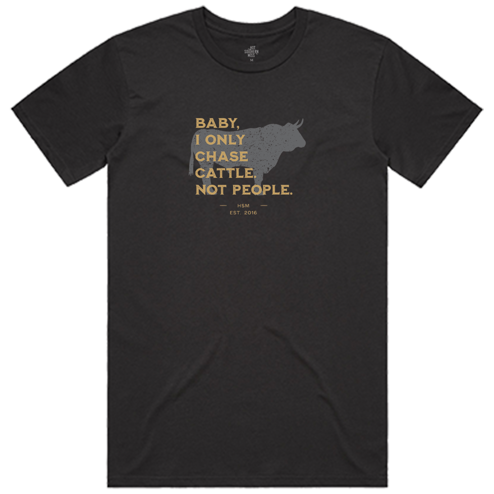 Chase Cattle Unisex Dusty Black Tee