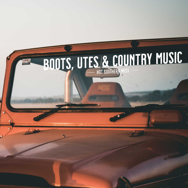 Boots, Utes & Country Music Sticker