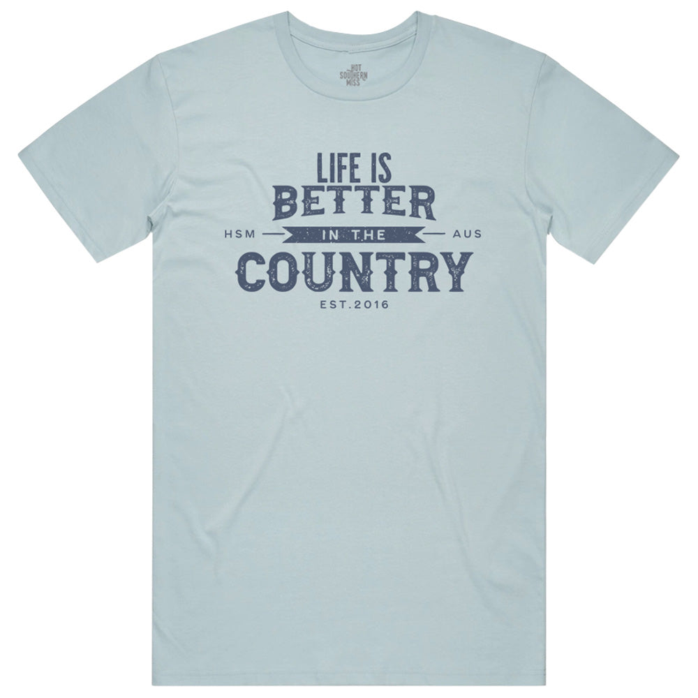 Hot Southern Miss Country Life Unisex Fit Crew Neck Pale Blue T-Shirt