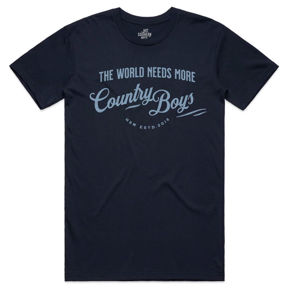 Country Boys Unisex Navy Tee
